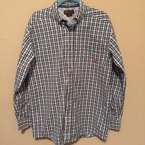 Ariat plaid long sleeve button down Sz M